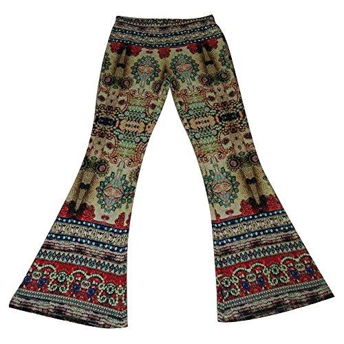Festa Colour Modello Style Donna Palazzo Fiore Vintage Pantalone Ragazze Accogliente Larghi Leggero Estivi 1 Colpo Lunga Elegante Pantaloni 1wFxzaa