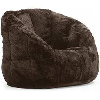 Ordinaire Cocoon Faux Fur Bean Bag Chair, Multiple Colors