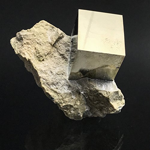 Pyrite Cube on Basalt From Navajun, Spain - PB11 by Astro Gallery Of Gems