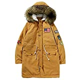 Aurorax Clearance Sale Winter Loose Coat Plus Size, Mens Pockets Outerwear Warm Parka for Boys/Juniors