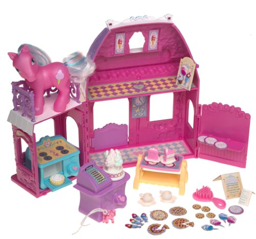 amazon com my little pony playset cotton candy cafe hard to find