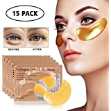 15 Pairs Collagen Eye Mask, Hydrogel Under Eye Patch Skin Care Eye Treatment Mask for Puffy Eyes Dark Circles Corrector Used for Under Eye Bags Anti Aging Mask Gift …