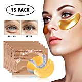 15 Pairs Collagen Eye Mask, Hydrogel Under Eye Patch Skin Care Eye Treatment Mask for Puffy Eyes...