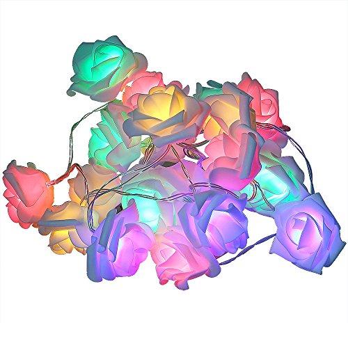LightMe Rose String Lights Colorful