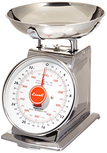 Escali Mercado Classic Design Scale, Stainless Steel