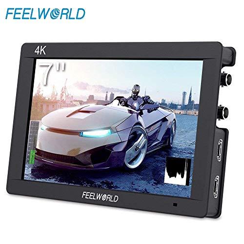 (FEELWORLD FW703 7 Inch DSLR On Camera Field Monitor 3G SDI 4K HDMI Input Output Video Assist Peaking Focus IPS Full HD)