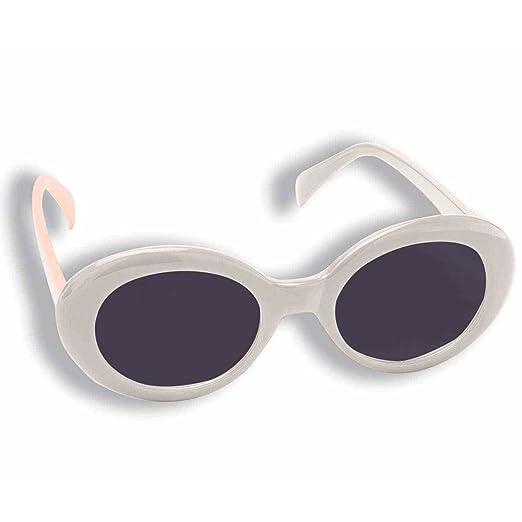 c0e57d14a26 Amazon.com  Jackie O White Round Sunglasses  Clothing
