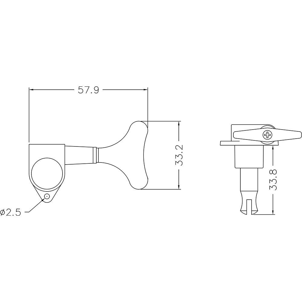 BQLZR Chrome 4 Right Hand Sealed Bass Tuners Machine Heads Set 10100252