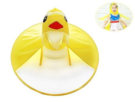 Impermeable de UFO,capucha chubasquer sombrero del paraguas de los niños, pato amarillo lindo
