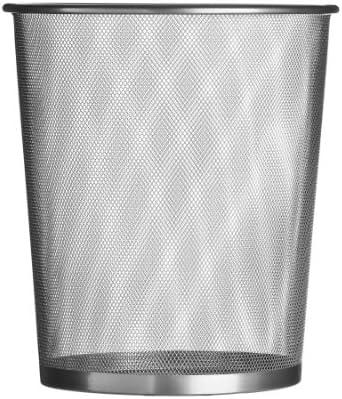 Premier Housewares Large Mesh Waste Paper Bin Silver Bedroom Bin Small Bin Rubbish Bin Waste Bin Recycling Bin For Bedrooms 35 X 30 X 30 Cm Amazon Co Uk Kitchen Home