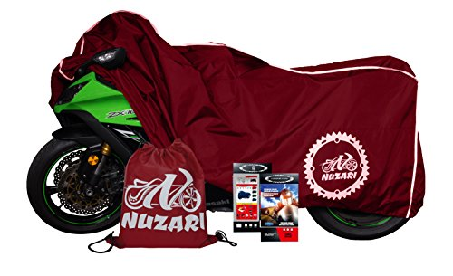 Premium Grade Weather Resistant Motorcycle Cover. Waterproof High Grade Polyester w/Soft Screen & Heat Resistant Shield Lockable fabric, Durable & Long Lasting. Sportbikes & Cruisers (XL, red)