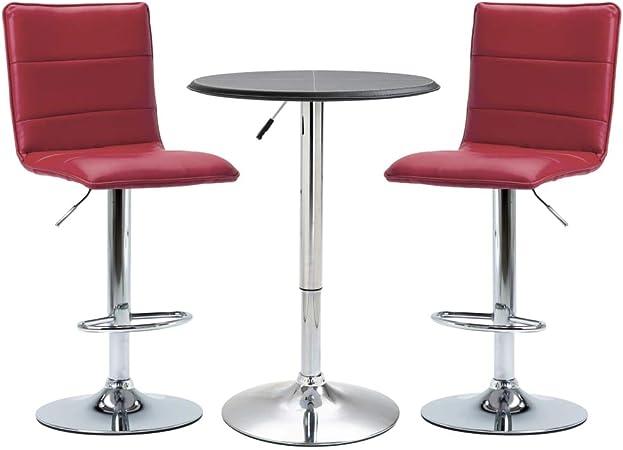 vidaXL Ensemble de Bar 3 pcs Table et Chaises de Comptoir