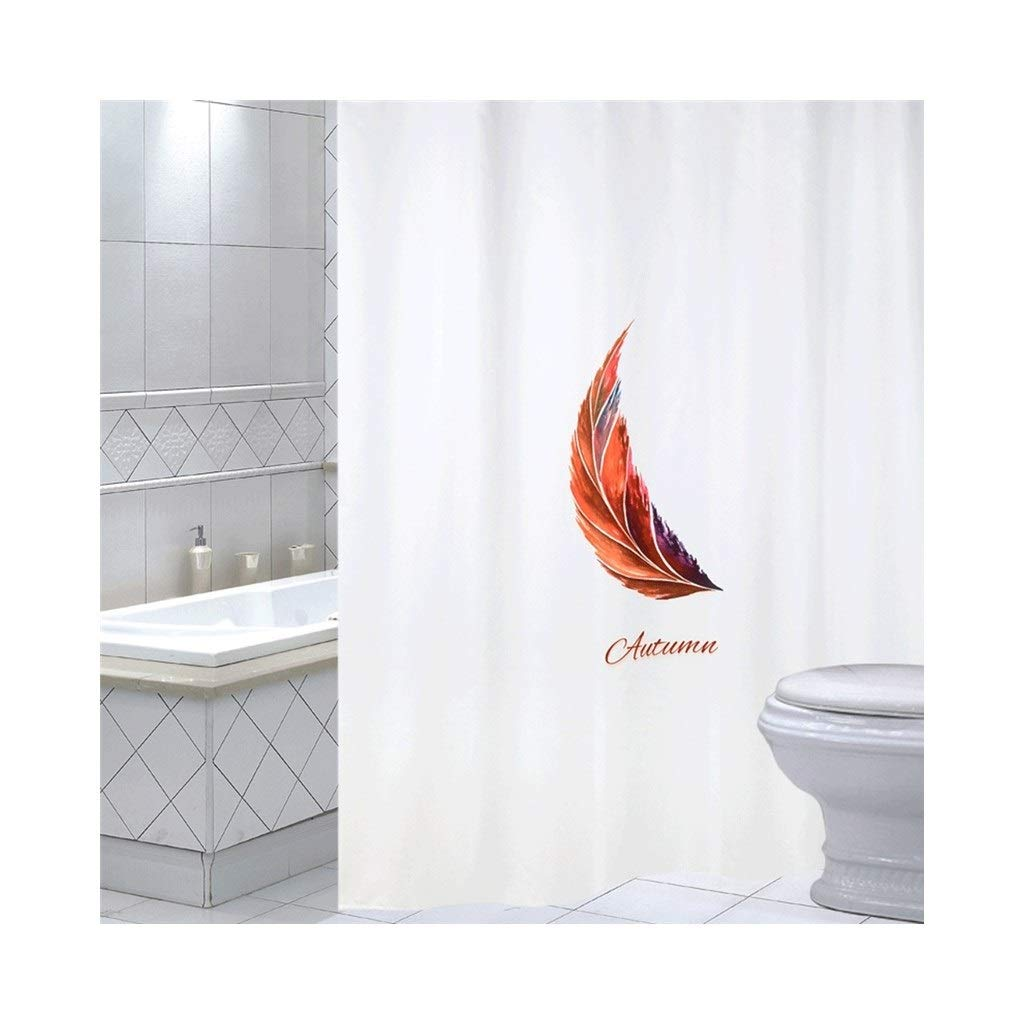 LQQ Mold Mildew Shower Curtain- Fresh Art Bathroom Shower Curtain, Waterproof Thickened Mildew Bathroom Curtain, partition Curtain, Bathroom Shower Curtain Fabric. -Cartoon Bathroom Curtain