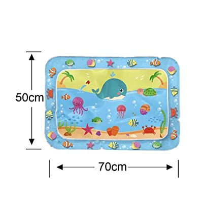 010 Inflatable Baby Water Mat Fun Activity Play Center for Children Water Spray (B): Kitchen & Dining