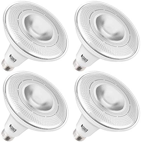 Indoor//Outdoor UL /& Energy Star Listed 3000K Warm White 1050 LM Sunco Lighting 4 Pack PAR38 LED Bulb 13W=100W Dimmable Flood Light Highlight Accent