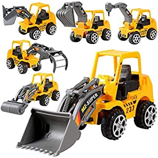 Zippem Keland 6Pcs Construction Vehicle Truck Push Engineering Toy Cars Children Kid Play Vehicles