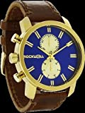 Rockwell Time Men's Apollo Watch, Gold/Royal Blue