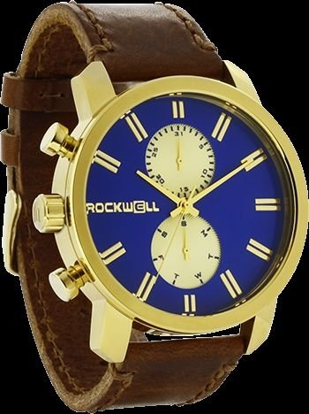 Rockwell Time Men's Apollo Watch, Gold/Royal Blue by Rockwell Time