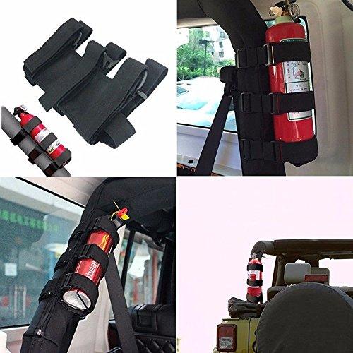 XYZCTEME Fire Extinguisher Holder, ATV/UTV Interior Roll Bar Trim Kit (Black) by XYZCTEM (Image #4)