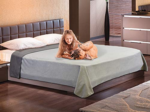 - Catalonia Waterproof Blanket for Bed,Reversible Baby Pet Doggy Pee Proof Fleece Blankets,Large Couch Sofa Cover Furniture Boat Mattress Protector,King Size 80