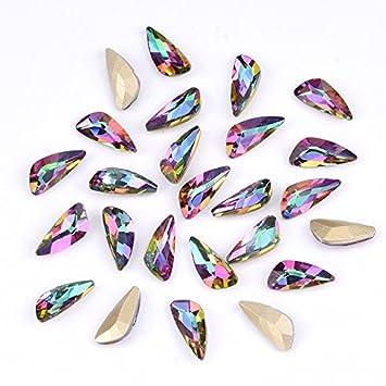 e968fc9adc Amazon.com : 10pcs Colored crystal glass rhinestones for nails ...