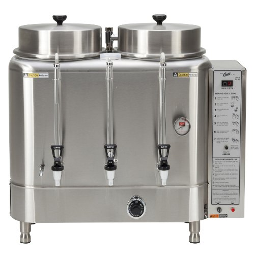 Wilbur Curtis Automatic Coffee Urn 6.0 Gallon Twin Coffee Brewer, 3Ph 3W+G 208/220V 27.6A 10,500W - Commercial-Grade Automatic Coffee Brewer - RU-600-20 (Each) by Wilbur Curtis