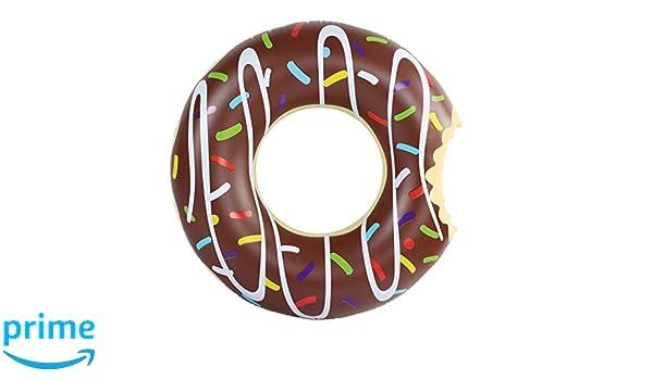 Amazing Sports - Donut hinchable, flotador 120 cm marrón XXL, juguete para el agua, colchón inflable: Amazon.es: Juguetes y juegos