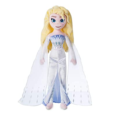 Disney Elsa The Snow Queen Plush Doll – Frozen 2 – Medium – 18'' inches: Toys & Games