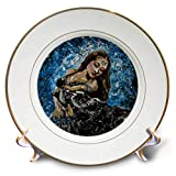 3dRose Art by Mandy Joy - Dancers - A Modern Impressionist Painting of a Hawaiian Girl Dancing. - 8 inch Porcelain Plate (cp_291492_1)