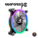Asiahorse Wireless RGB LED 120mm Case Fan,Quiet Edition High Airflow Adjustable Color LED Case Fan for PC Cases, CPU Coolers,Radiators system,1PACK