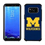 Prime Brands Group Textured Team Color Cell Phone Case for Samsung Galaxy S8 Plus - NCAA Licensed University of Michigan Wolverines