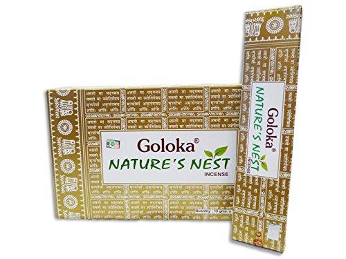 Goloka Nature's Nest Incense Sticks-15grams(12packs)
