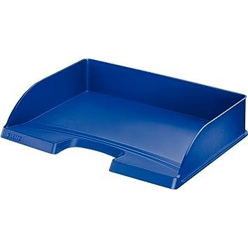 Leitz Bandeja portadocumentos Plus, apaisada, A4 y folio, Azul, 52180035