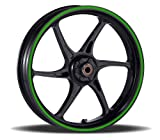 Vehicleartz 16 to 19 inch Motorcycle, Scooter, Car & Truck Wheel Rim Trim Tape Stripes Bright Green Size 1-1/4inch or 6mm wide