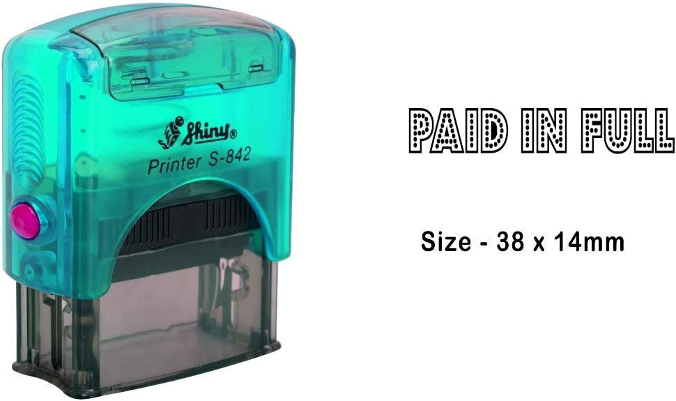 eloria Paid in Full Self Inking Rubber Stamp-Shiny S-842-Black Ink