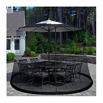 Elegant Pure Garden Patio Umbrella Cover Mosquito Netting Screen For Patio Table  Umbrella, Garden Deck Furniture
