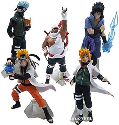 INTER FAST Naruto Character Toys - 5 muñecas Ninja Muñecas ...
