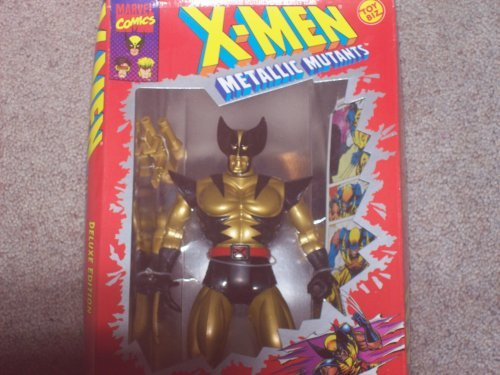 Toy Biz Mint - X Men Wolverine Metallic Action Figure - 1994 Metallic Mutants Series - 10 inch Tall - Fully Posebale - Weapon Included - Toy Biz - Marvel - Limited Edition - Mint - Collectible