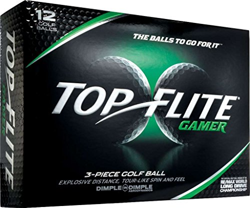 Top Flite Gamer 3-Pieace Golf Ball Dimple in Dimple (White)