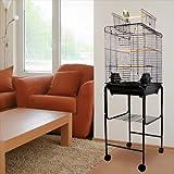Kiko Kondo Playtop Bird Cage with Stand - 16''W x 16''D x 51''H - White