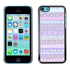 PC/Aluminum Funda Carcasa protectora para Apple Iphone 5C pink purple Nordic Alaska winter sweater / JUSTGO PHONE PROTECTOR