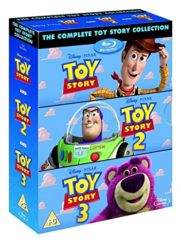 The Complete Toy Story Collection 1, 2, 3 [Blu-ray Box Set Disney] (Ray Blue Princess Disney Movies)