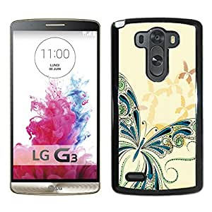 Butterflys 2 Black Abstract Personalized Picture LG G3 Case