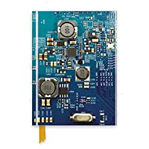 Circuit Board Blue: Foiled Notebook