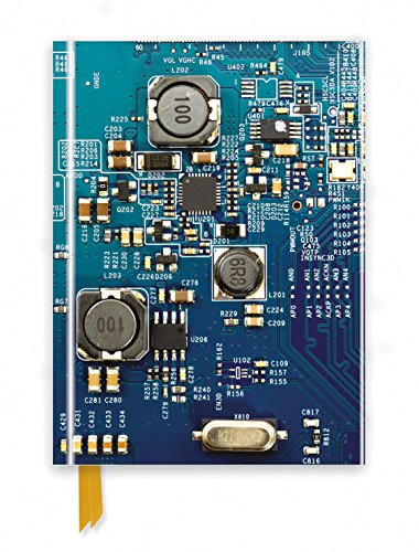 Circuit Board Blue (Foiled Journal) (Flame Tree Notebooks) (Tree Uk Gift)