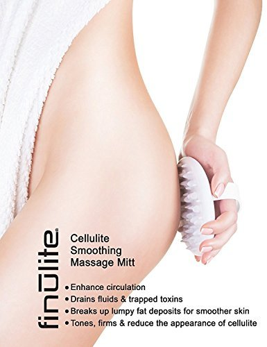 Anti Cellulite Massager and Remover Brush Mitt - (Non Pinching) Steady Grip Shower Handle Body Deep Toxin Exfoliator, Increase Circulation, Lymphatic Drainage, Fascia Blaster Remover & Skin Tightening