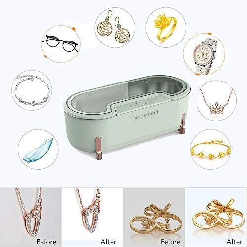 MLSJM 500 Ml Gläser Reiniger Multifunktionsminischmucksache-Reinigungs-Maschine Für Ring Halskette Armband-Uhren Razors Zahnersatz, Anzug Für Home Reise