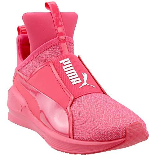 PUMA Women's Fierce Varsity Knit Wn Sneaker, Paradise Pink, 7 M US