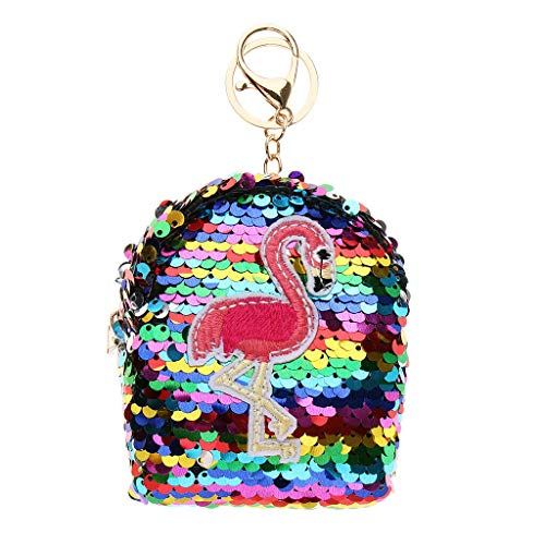 Womens Sequins Leather Wallet Coin Purse Change Card Keys Cash Wallet Case (Color - Colorful 1)