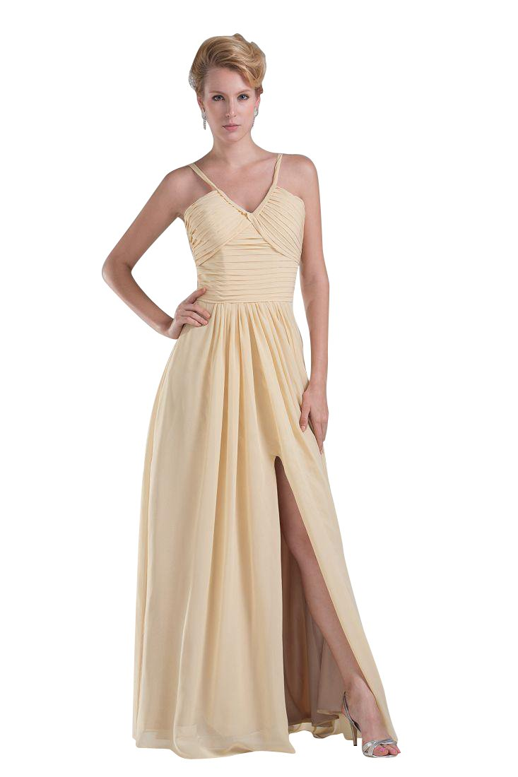 Beauty-Emily Maxi Chiffon Sleeveless Backless V-Neck Cut-Out Zipper Christmas Gifts Night Evening Dresses Color Beige,Size US20W
